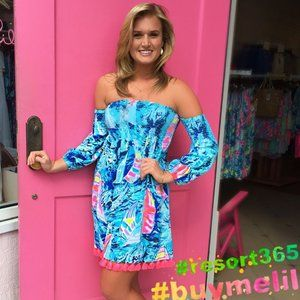 Lilly Pulitzer Trina OffShoulder Dress Hey Bae Bay
